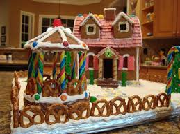 creative gingerbread houses. Delighful Creative The Fence Was Made With Small Twist Pretzels Base Of The House And  Pathway Is Broken Pieces Necco Wafers Throughout Creative Gingerbread Houses I