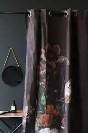 floral shower curtain. Black Floral Shower Curtain S