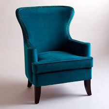 bedroomlicious soho turquoise velvet wing chair accent chairs tov wil pads ikea desk outdoor bedroomlicious patio furniture