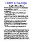 lost descriptive writing gcse english marked by teachers com fit birds in the jungle