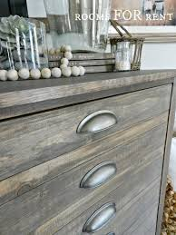 beautiful weathered finish using minwax special walnut over a light coat of rustoleum weathered grey stunning finish