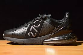 mens shoes nike air max 270 leather black