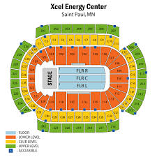 Xcel Energy Seating Chart General Xcel Center Map Xcel