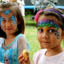 kids girls party birthday face paint elsa rainbow