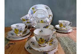 1950'S Dinnerware Patterns Extraordinary Crown Regent Tea Service Vintage 48's 48pc 'regent' Fine Bone