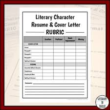 Character Resume And Cover Letter For Any Literary Character Tpt
