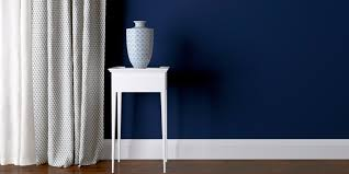 dark blue living room paint color