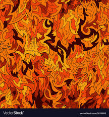 Flame Pattern Amazing Seamless Fur Or Flame Pattern Background Vector Image