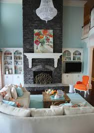 cool decorative fireplace screens with blue rug and