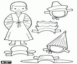 Small Picture A doll of Korea dress up game coloring page printable game