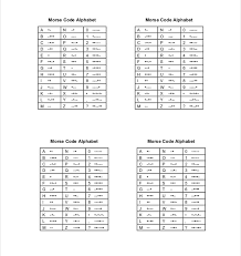 10 Free Download Morse Code Chart Templates In Word Free