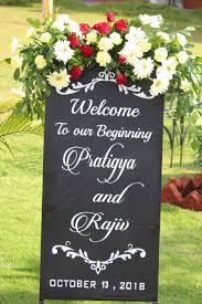 Wedding Name Board Design For Car Clover Weddings