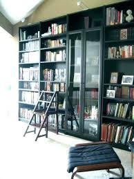 bookcases black bookcase with glass doors bookcases billy door exciting