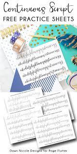 Continuous Script Penmanship Practice Worksheets Page Flutter