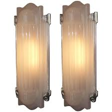 Home Theater Wall Lighting Fixtures Large Elegant Art Deco Wall Sconces Home Theater At 1stdibs