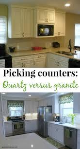 Quartz Versus Granite Kitchen Countertops Green With Decor Quartz Versus Granite