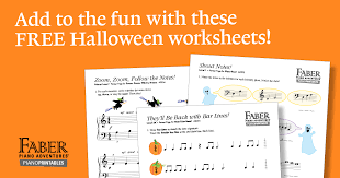 Free Halloween Worksheets | Faber Piano Adventures