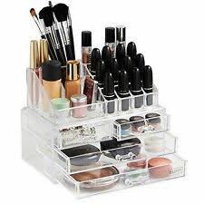 beautify 10 041 acrylic cosmetic makeup organiser 20 sections with 4 drawers