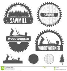 sawmill logo. royalty-free vector sawmill logo