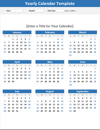 Year At A Glance Calendars Any Year At A Glance Calendar Portrait