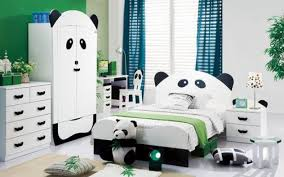 Extraordinary Full Size Bedroom Set For Kids With Panda Motif Consists Of  Panda Wardrobe, Panda