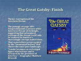 The Great Gatsby Corruption Of The American Dream Best of Depression Materialism And The American Dream In Fitzgeralds Great