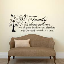 family wall decal e unique family tree wall