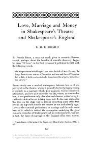 love marriage and money in shakespeare s theatre and inside