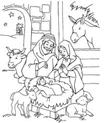 Small Picture Nativity Coloring Pages 2017