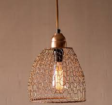 woven wire pendant light cage pendant light