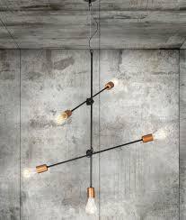 industrial vintage black copper adjule light