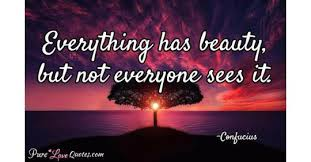 Everything Has Beauty Quotes Best Of Everything Has Beauty But Not Everyone Sees It PureLoveQuotes