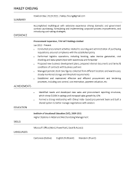 Resume. Modern Procurement Resume