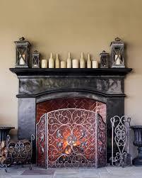 estate fireplace screen tool balsam hill
