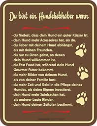 Empireposter Hunde Sprüche Hundeliebhaber Spruch Blechschild Mit