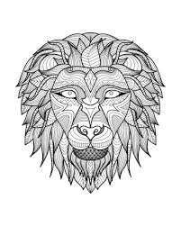 tribal coloring pages.  Tribal Coloringadultlionhead2freetoprint In Tribal Coloring Pages W