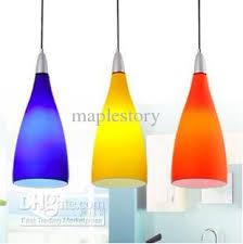 Lighting Design Ideas:Colored Glass Pendant Lights Three Color Modern Glass  Lamps Pendant Light Brief