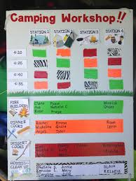 Girl Scout Camping Kaper Chart Template Camping Kaper Chart For Brownie Get Ready To Camp Workshop