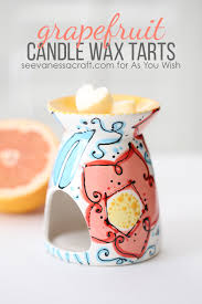 it s vanessa of see vanessa craft with a fun tutorial for you paint your own wax warmer at as you wish and you can make your own homemade wax tarts to