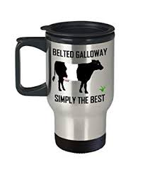 belted galloway travel mug fun gift for cow