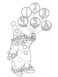simple circus coloring page to print and color for free