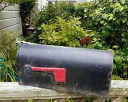 metal mailbox flag. Fabulous Vintage Black Metal U S Mail Mailbox With Classic Red Flag, Rural Mailbox, Farmhouse Flag M