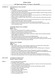 Chemistry Resume Production Chemist Resume Samples Velvet Jobs 7