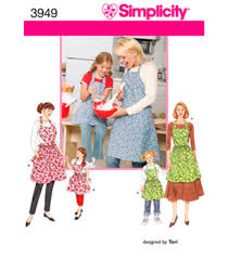 Simplicity Patterns Beauteous Simplicity Pattern 48Child's Misses ApronsSML SML JOANN