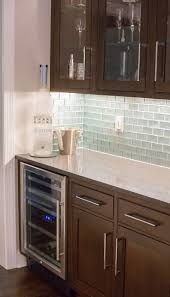 Shadow Gray Q Premium Quartz Bar with Glass Tile backsplash