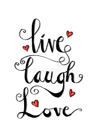 Live Laugh Love Quotes Live laugh love card stock vector Illustration of greeting 51