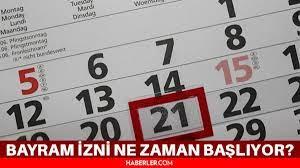 Bayram izni ne zaman başlıyor? Kurban Bayramı tatili ne zaman başlıyor? Kurban  Bayramı Arefesi ne zaman? - Haberler
