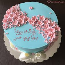 Write Name On Stylish Birthday Cake Editing Online Picture