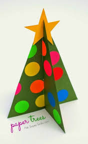 Paper Christmas Trees Template Included Christmas Tree