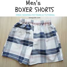 Boxer Pattern New Men's Boxer Shorts Free Sewing Pattern Tutorial Sew Guide